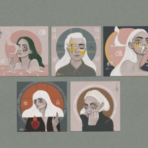 Postcard Sets by Nast Enna.