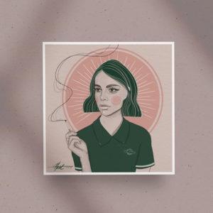 Poster print Just smoke by Nast Enna
