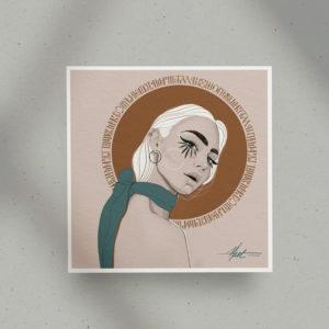 Poster print Look at me darling. by Nast Enna