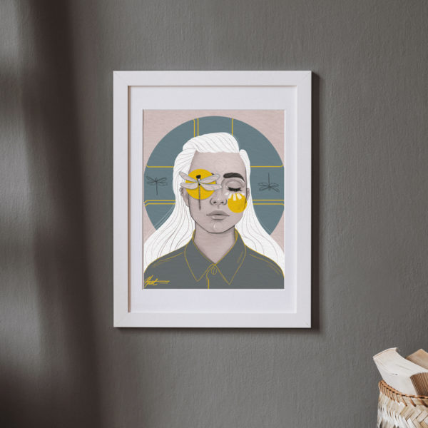 Poster print Dragonfly Girl by Nast Enna