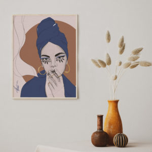 Poster print A little conversation and tea by Nast Enna