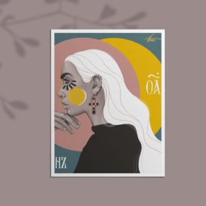 Poster print Facing the sun by Nast Enna