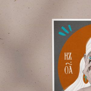 Poster print Good Girl by Nast Enna.